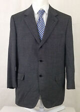 Brioni 46R Nomentano Sport Coat Gray Shepherd's Check 3 Button 100% Wool Men's