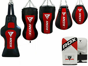 RDX Boxsack Anti Schaukel Sandsack Set MMA Boxhandschuhe Halterung Stahlkette