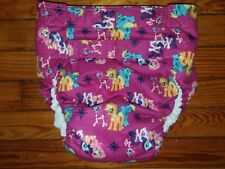 Dependeco All In One flannel adult diaper S/M/L/XL  (my little pony magenta)