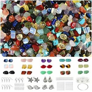 700 pcs Multicolor Crystal Stone Beads and Jewelry Making Kit Genuine Natural...