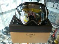 ELECTRIC EG2 SNOW GOGGLES GLOSS BLACK - BRONZE/SILVER CHROME IN BOX - AU STOCK !