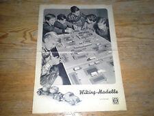 Wiking Katalog 1957 Bildpreisliste Großer Bildprospekt