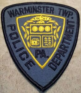 PA Warminster Twp. Pennsylvania Police Patch