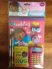 disney doc mcstuffins 7 pc calculator set notebooks, pencils, eraser, sharpener