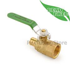 """(10) 3/4"""" PEX Crimp x 3/4"""" Female Threaded Lead-Free Brass Ball Valves Full Port"""