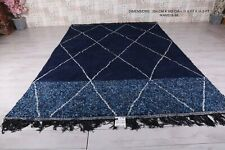 Custom moroccan rug Blue, hand knotted moroccan rug