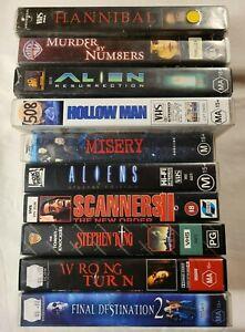 Bulk Horror VHS Lot of 10: Aliens, Wrong Turn, Final Destination 2, Misery +++++