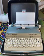 Vintage Two Tone Blue SCM Smith Corona Coronet Automatic Electric Typewriter