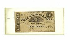 1863 NC-113 10 CENTS THE STATE OF NORTH CAROLINA - CONFEDERATE NOTE