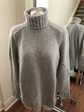 GAP 100% Cashmere Grey Turtleneck Sweater Size S Reatail $250