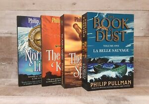 x4 Philip Pullman paperbacks bundle (Book of Dust, His Dark Materials trilogy)