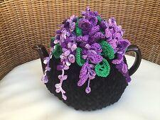 Handmade Crochet tea cozy black tea cover wisteria flower tea cosy tea warmer