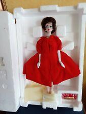 barbie en porcelaine edition limitee;silken flame;reproduction de 1962
