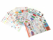 6 Sheets Daily Scrapbook Deco Craft Stickers for Girls, Transparent stickers