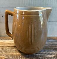 "Vintage Mid Century Glazed Ceramic Vase Pitcher 7"" Tall"