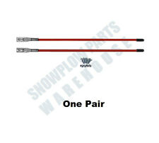 Red Universal Snow Plow Blade Guide Stick Markers Western 62265,Boss BAX0005