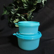 Tupperware New 2 Blue Storage Snack Containers Small 1~ 8oz  & 1~14 oz Bowls