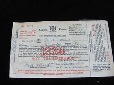Vintage-1934 Ontario Angling License-Non Resident