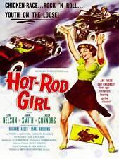 Anuncio Teatro película Hotrod Chica clásico de culto EE. UU. impresión de arte cartel BB4681B