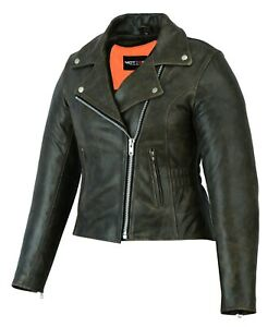 Ladies Women's Motorcycle Racing Leather Jacket Chocolate brown CE Armoured
