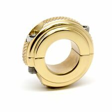 MOTORCYCLE MIRROR CLAMP SOLID BRASS1''