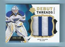 JAKE ALLEN 2012/13 ULTIMATE COLLECTION DEBUT THREADS 2 COLOR PATCH /100