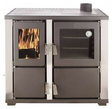 Slow combustion wood heater stove with Oven / Pizza oven