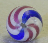 #10333m Larger .77 Inches German Handmade Peppermint Swirl Marble