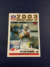 2004 Topps Collection Gold # 294 PEYTON MANNING Wrap Up Indianapolis Colts NM