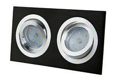 Alu Einbaustrahler GU10 / GU5,3 Rahmen eckig Einbaurahmen Einbauleuchte Spot LED
