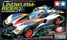 TAMIYA 1:32 R/C MINI 4WD LINDWURM-RIDER CAR COMPONENT KIT CON MOTORE  ART 19713