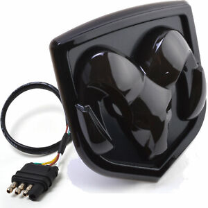 DODGE RAM Hitch Cover Licensed LED Light Trailer Towing Receiver Black 6531