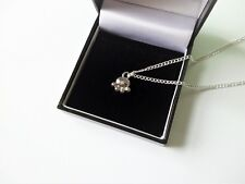 """UK Seller Cute Silver Tone Dog Paw Dog Lovers Pendant Necklace Jewellery 18"""""""