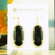 Black Earrings Gold Tone Nwt Kendra Scott Elle