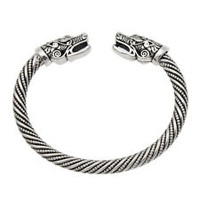 Viking Wolf Head Men Bracelet Bangle Jewellery Unisex Good Luck Fashion Gift 1pc