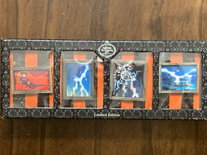 DISNEY 2007 THE HAUNTED MANSION RE-HAUNTING 4 PIN LENTICULAR SET LE 750  PIN