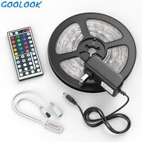US Local Ship-5M LED Strip Light SMD 5050 RGB+44 Key Remote Controller+Power