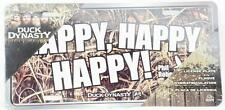 """New Duck Commander Dynasty """"Happy Happy Happy"""" License Plate 12x6 QLP2402 New"""