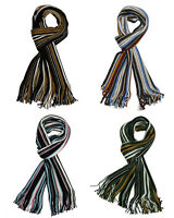 Unisex Luxurious Soft Touch Stripe Scarf Multi Bold Striped Scarves Winter
