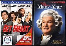 Get Smart (DVD, 2008, FS) & Man Of The Year (WS) 2 DVDs