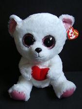 "Nwt Ty Beanie Boos 9"" Sweetly Polar Bear Medium Plush Valentine's Heart Boo 2013"