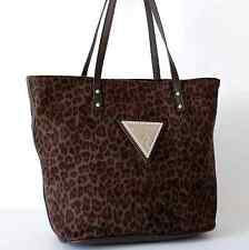GUESS AUTHENTIC SEXY JUNGLE BROWN TOTE LADIES BAG HANDBAG PURSE NWT
