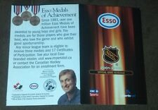 2001-02 NHL Full League Schedule pocket schedule Esso Wayne Gretzky
