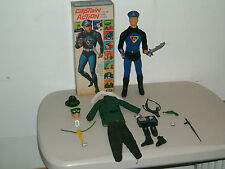 VINTAGE `66 IDEAL CAPTAIN ACTION FIGURE w/BOX & COMPLETE GREEN HORNET COSTUME NM