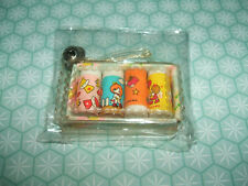 Ultra Rare Vintage 1980s Sealed Kutsuwa Cute Girl Mini erasers rubbers with Bell