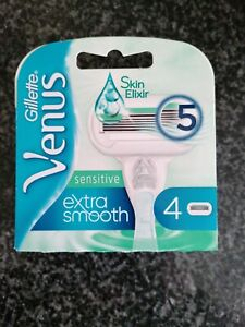 Gillette Venus Extra Smooth Sensitive Blades Pack Of 4 Brand New Genuine Product