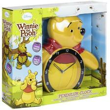 Disney Winnie The Pooh Bear Motion Swinging Legs Pendulum Wall Clock BRAND NEW