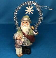 Antique Style Santa Green Robe & Child Christmas Holiday Ornament Bethany Lowe?