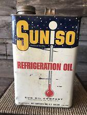 Vintage Suniso Refrigeration Oil Sunoco Oil