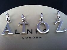 New Links of London Silver Sweetie Charm ALPHABET A to Z Letter Gift Packaged
